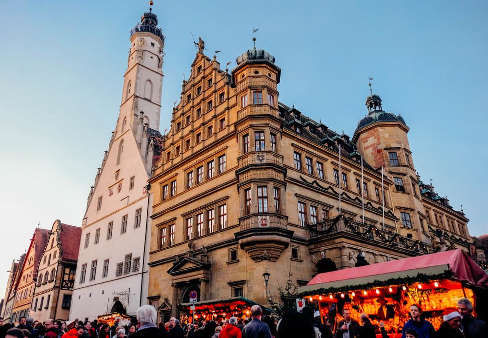 Christmas market in Rotenburg ob die Tauber, bavaria