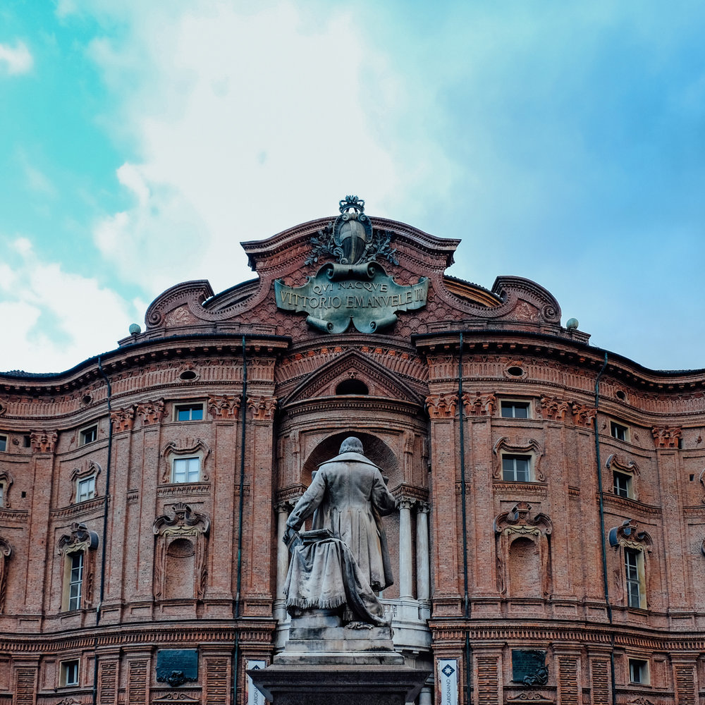 town square in torino, turin italy
