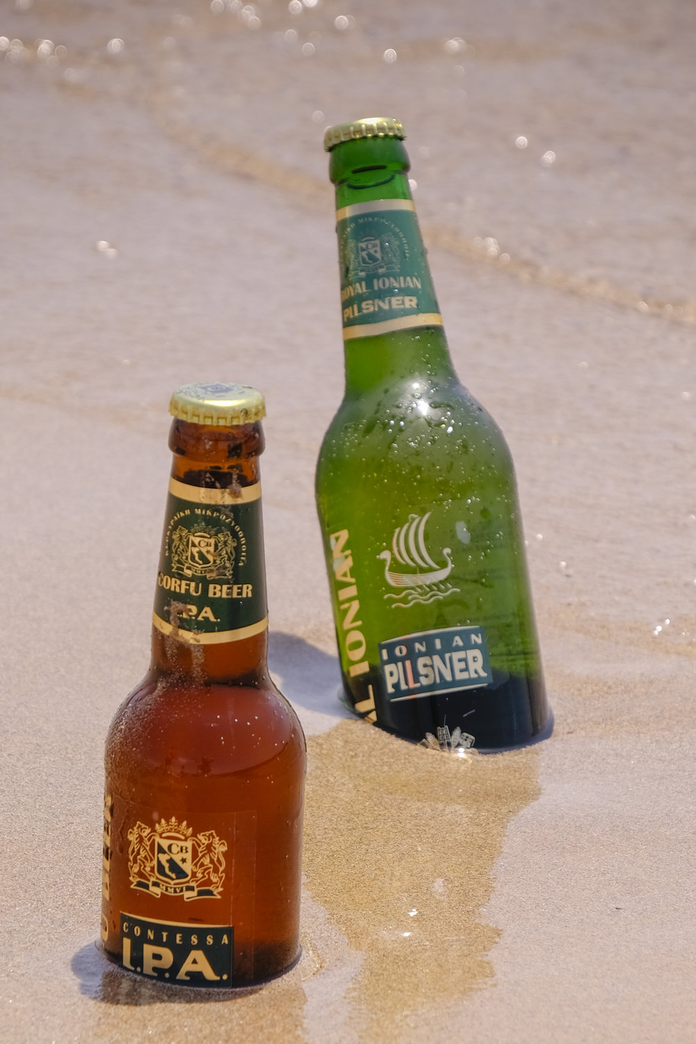Beer lovers rejoice when they sip the islands top-quality Corfu Beer's range of all-natural, local brews