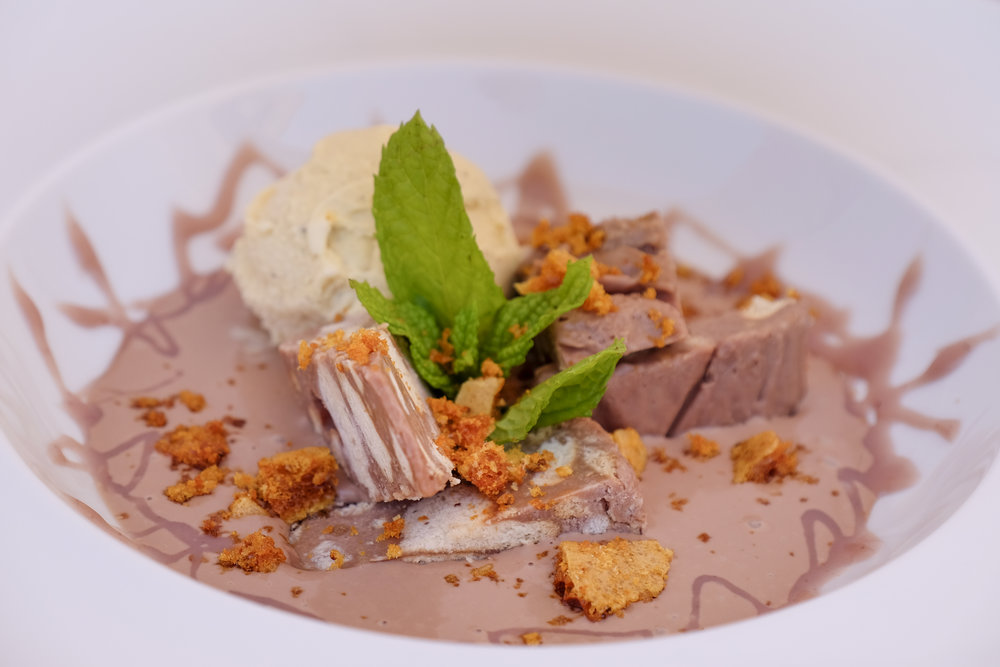 dessert by private chef christos ioannidis at nagual beach bar in corfu