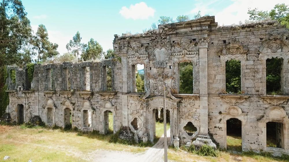 casa de vila boa ruins in marco de canaveses portugal's douro valley