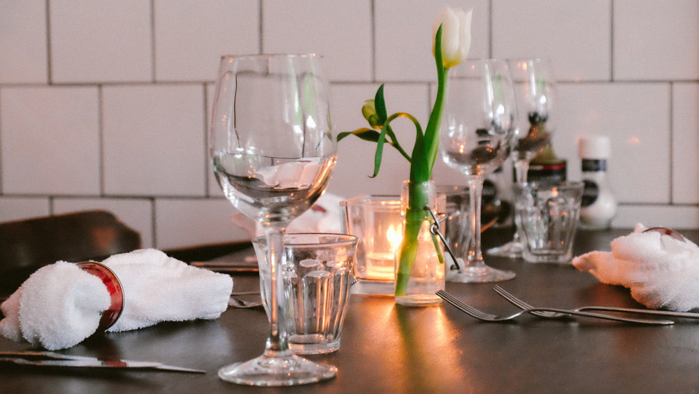 A table set before the dinner rush begins. Eetcafe Il ya a is one of Maastrcht's most sought-after restaurants. In the heart of the Latin-quarter, the menu is Mediterranean-inspired with a wine list that would make a somm blush.