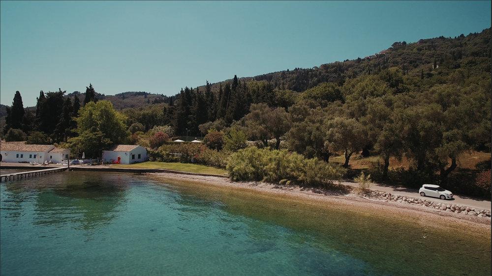 corfu road trip island coastal road