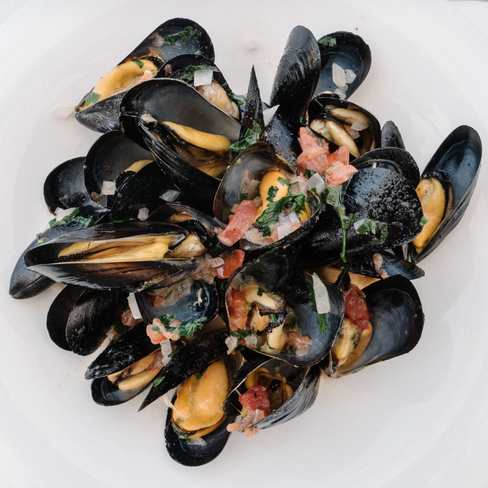 mussels from genesis taverna in paxos, Greece