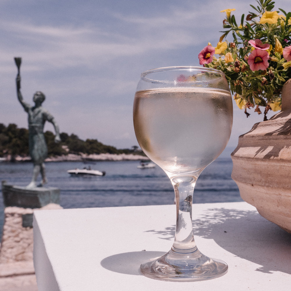 white wine from ionian island anti-paxes