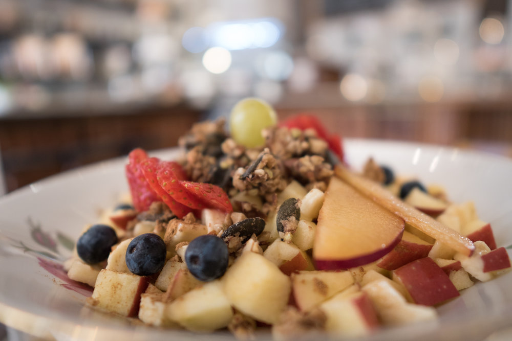 Apple Muesli: from the three-tiered platter, highly Instagrammable, signature Sisi & Franzi Breakfast