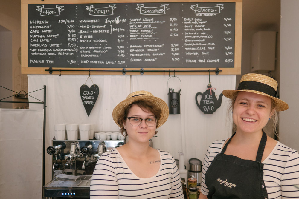 bakers and helpers from Vienna's top vegan bakery simply raw