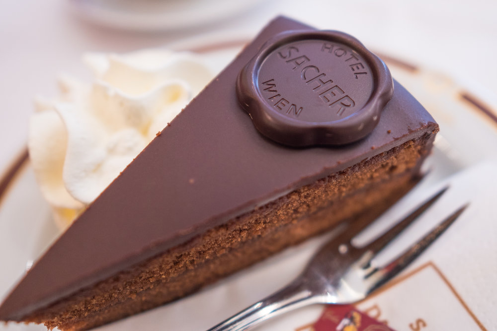 Sacher torte, the original chocolate cake is famously from Vienna