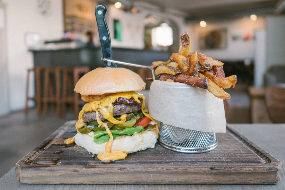 burger from beaver brewing company is one of Vienna's best