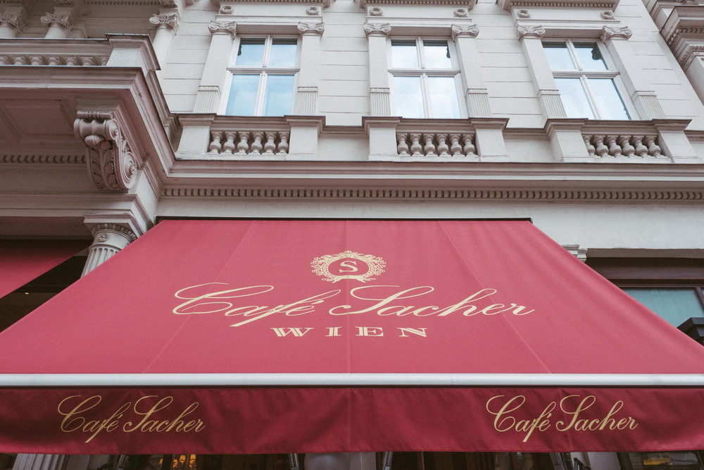 The entrance to Cafe Sacher is unmistakable as much as it is synonymous with Viennese foodie culture and tradition, but it's in the midst of a massive update for 2017.