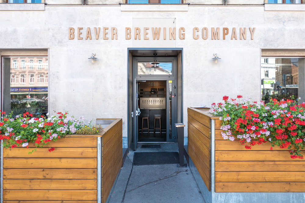 The patio at Beavering Brewing Company makes it easy to settle in for the afternoon.