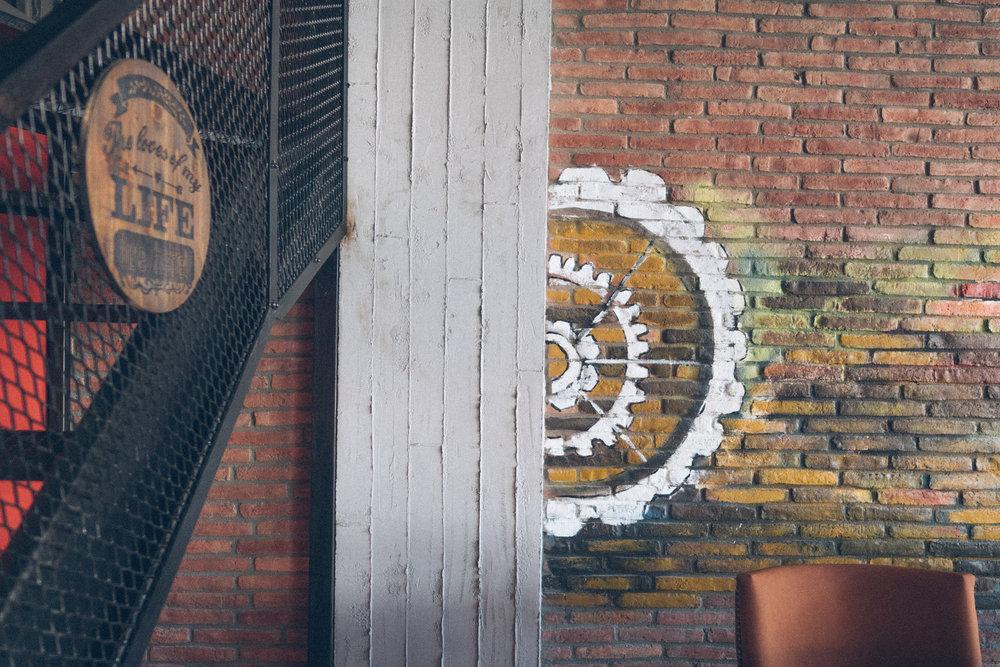 Factory has an open-concept industrial-meets-jazz bar feel
