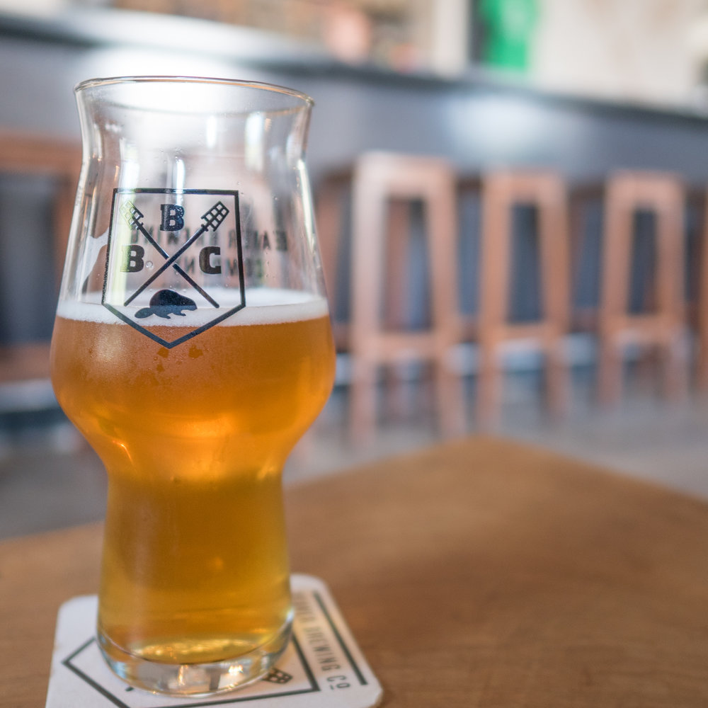 a pint of craft beer at Vienna's American craft brewery, beaver brewing company