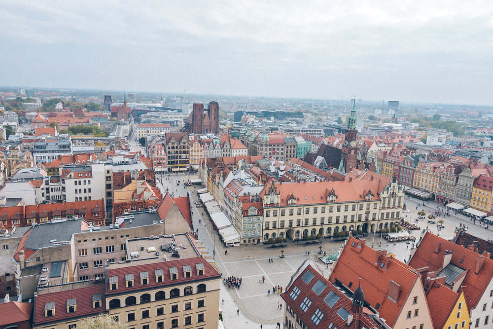 city of Wroclaw old town
