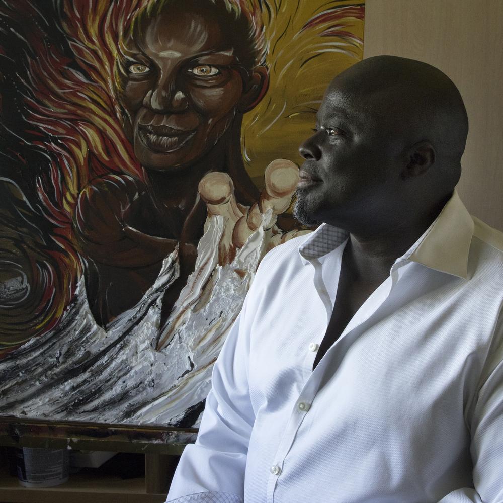 Floyd in his studio