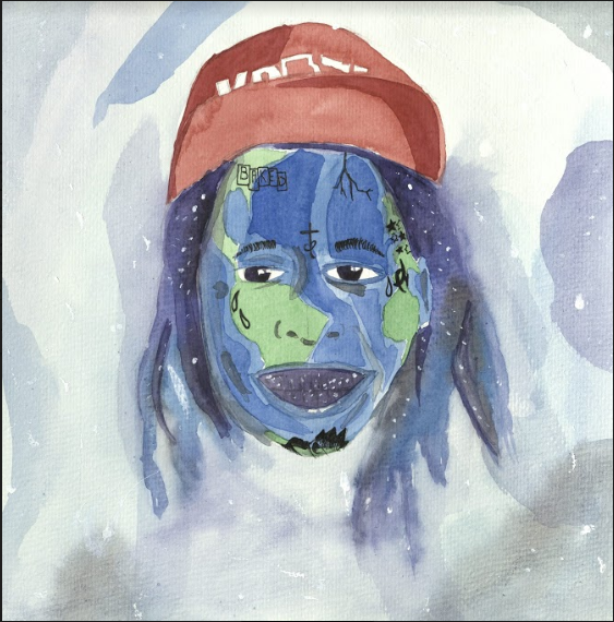 Joseph Bonney. Lil Wayne. Watercolor. 2017.