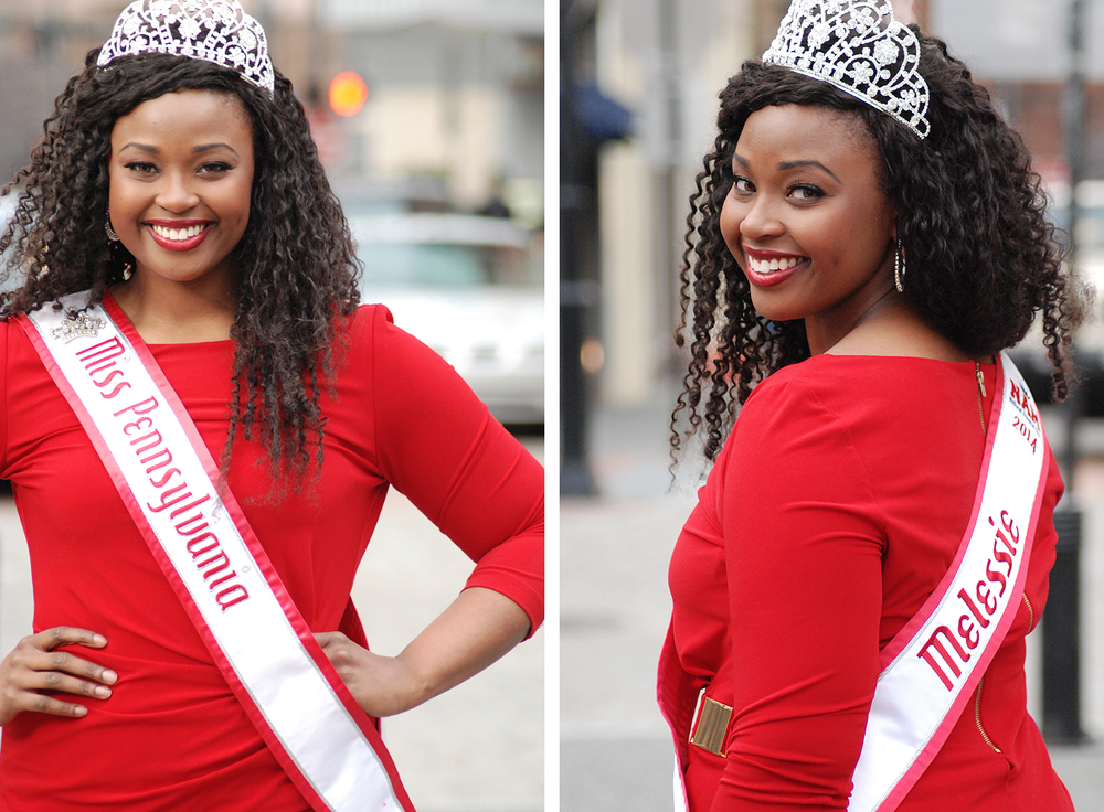 Melessie was the 2012 National American Miss PA Teen and the 2014 National American Miss PA.