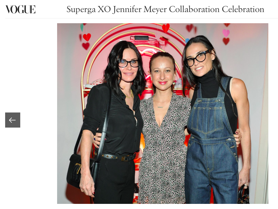 Demi Moore wears the Olympia Overall at a Superga event at the Chateau Marmont in Los Angeles.