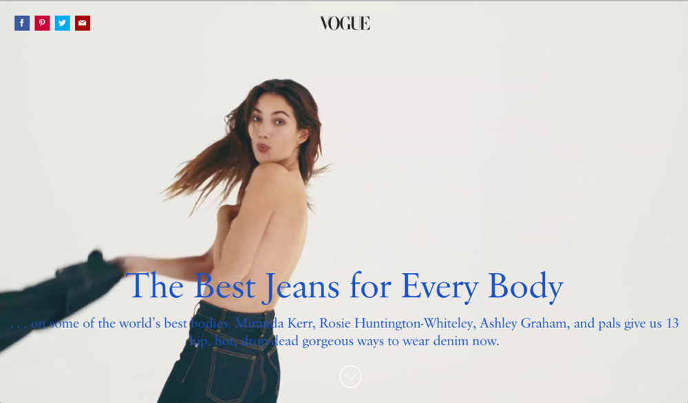 Vogue 2016 Denim Video featuring Eve Denim