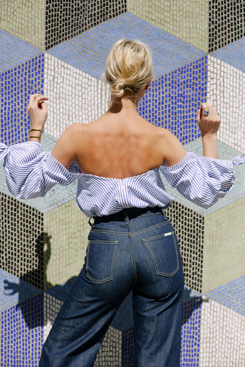 Pandorasykes.com  captures the back of the  Charlotte Culotte in Raw Denim