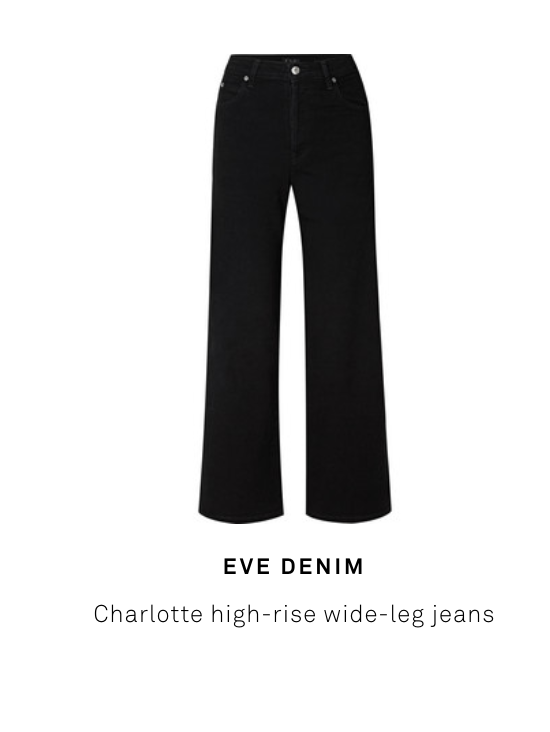 Net-A-Porter's Denim Trends 2019: The Best New Styles and Coolest Shapes   featuring the Charlotte Culotte in Noir Stretch