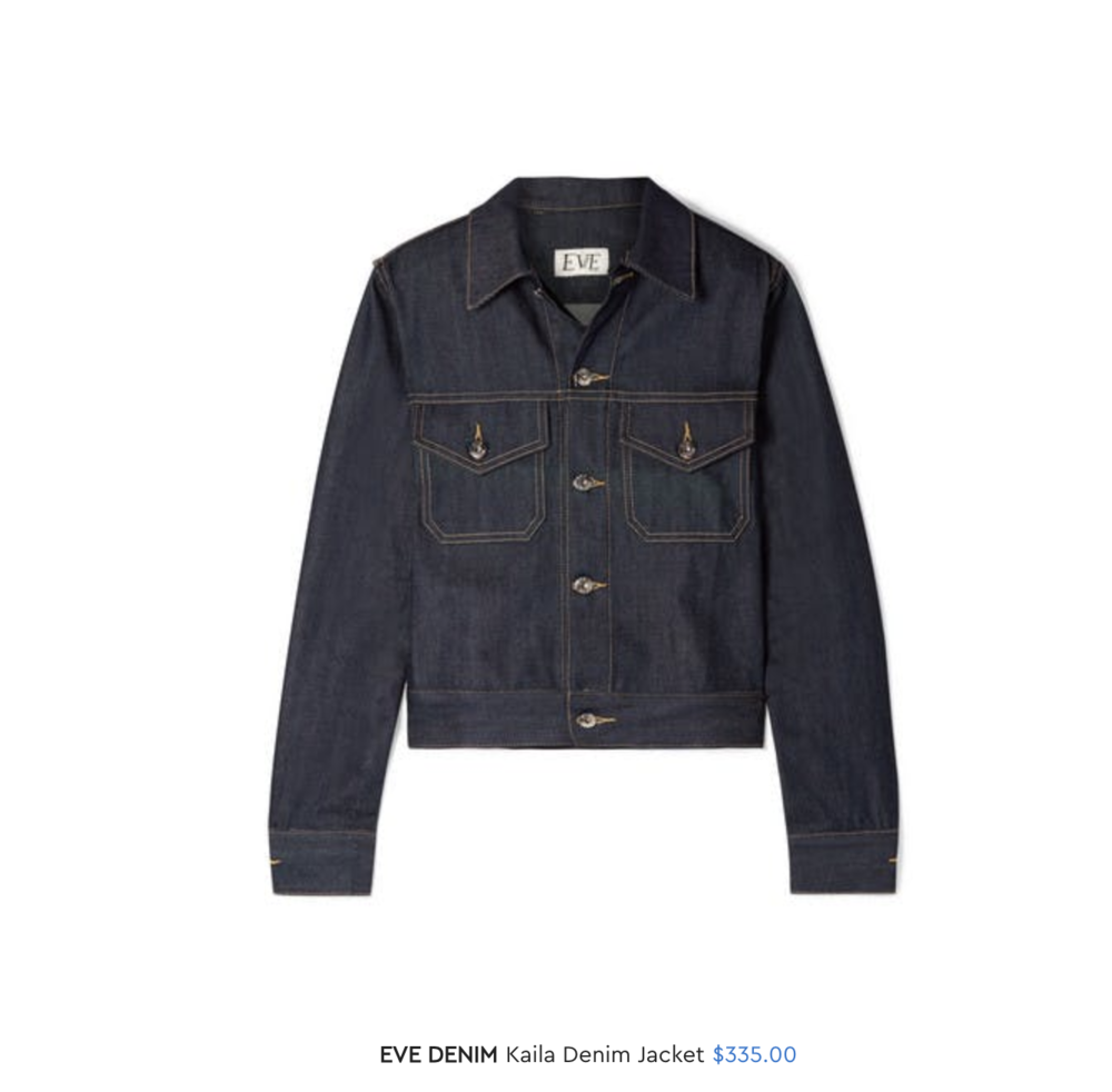 Kaila Jacket in Raw Denim in   Denim Blog's Holiday Gift Guide