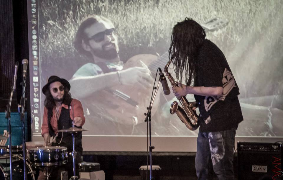 Devon VEnoit on Drums and Pete Keys Ransford on Sax (foRmer members of Canvas)