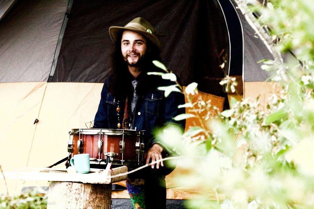 Devon Venoit, drums and steel guitar