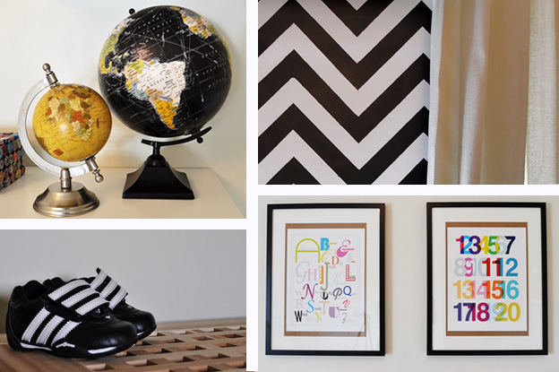 Black Accents for a Kids' Room
