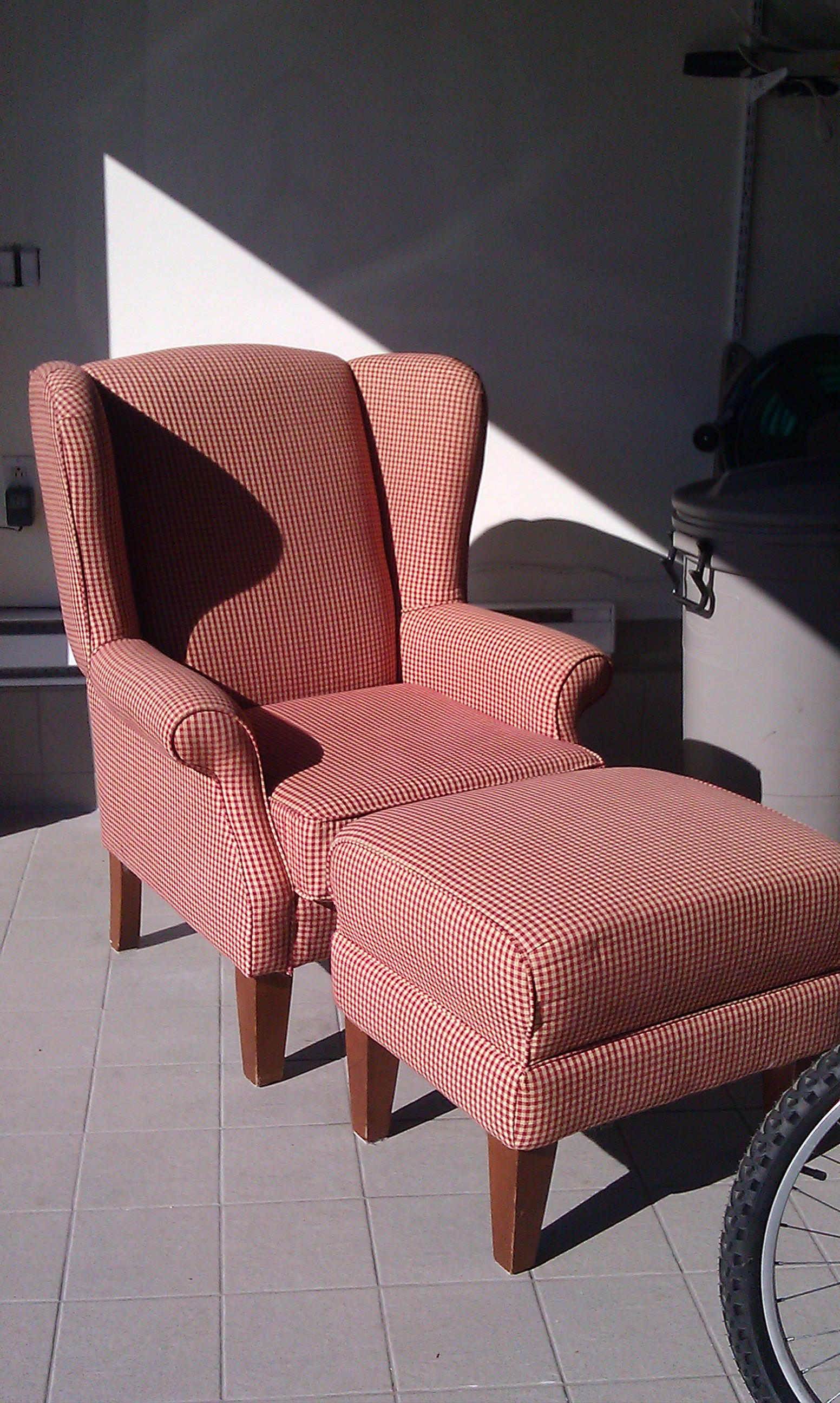 Wingback Chair - Before the DIY