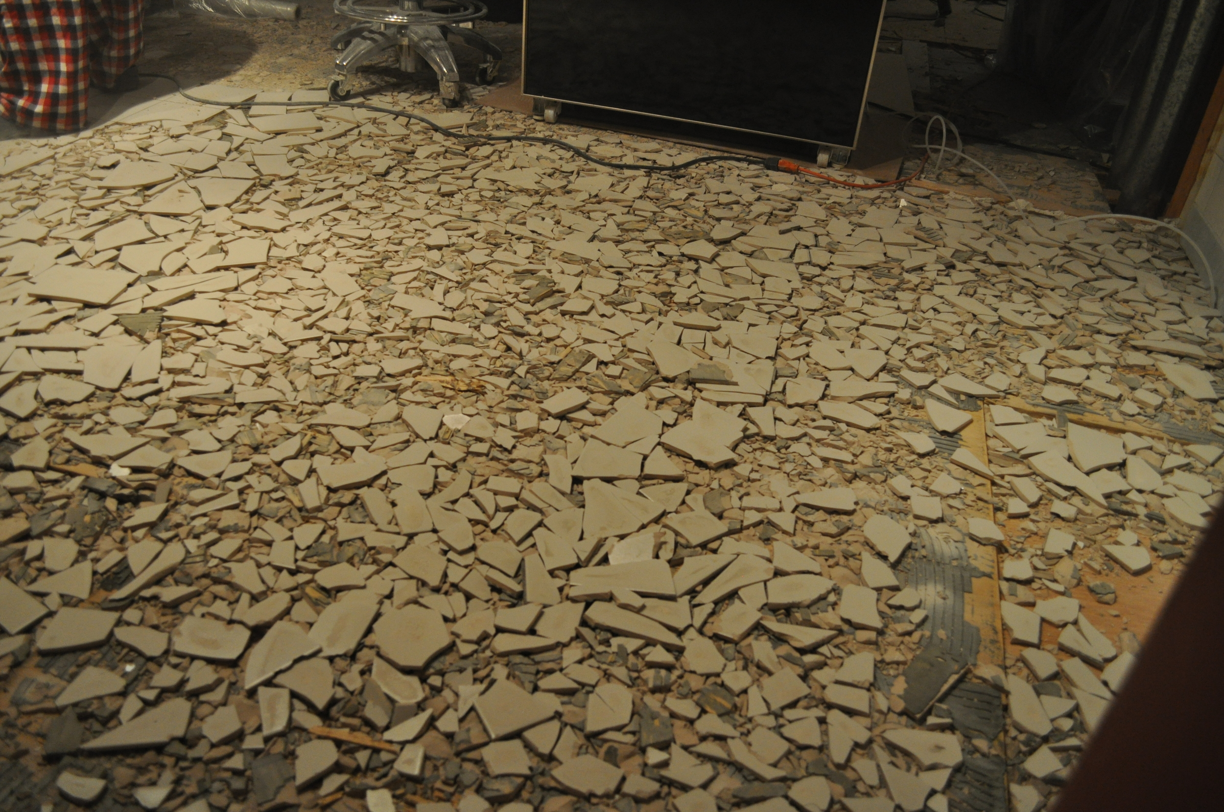 Kitchen tile, in pieces