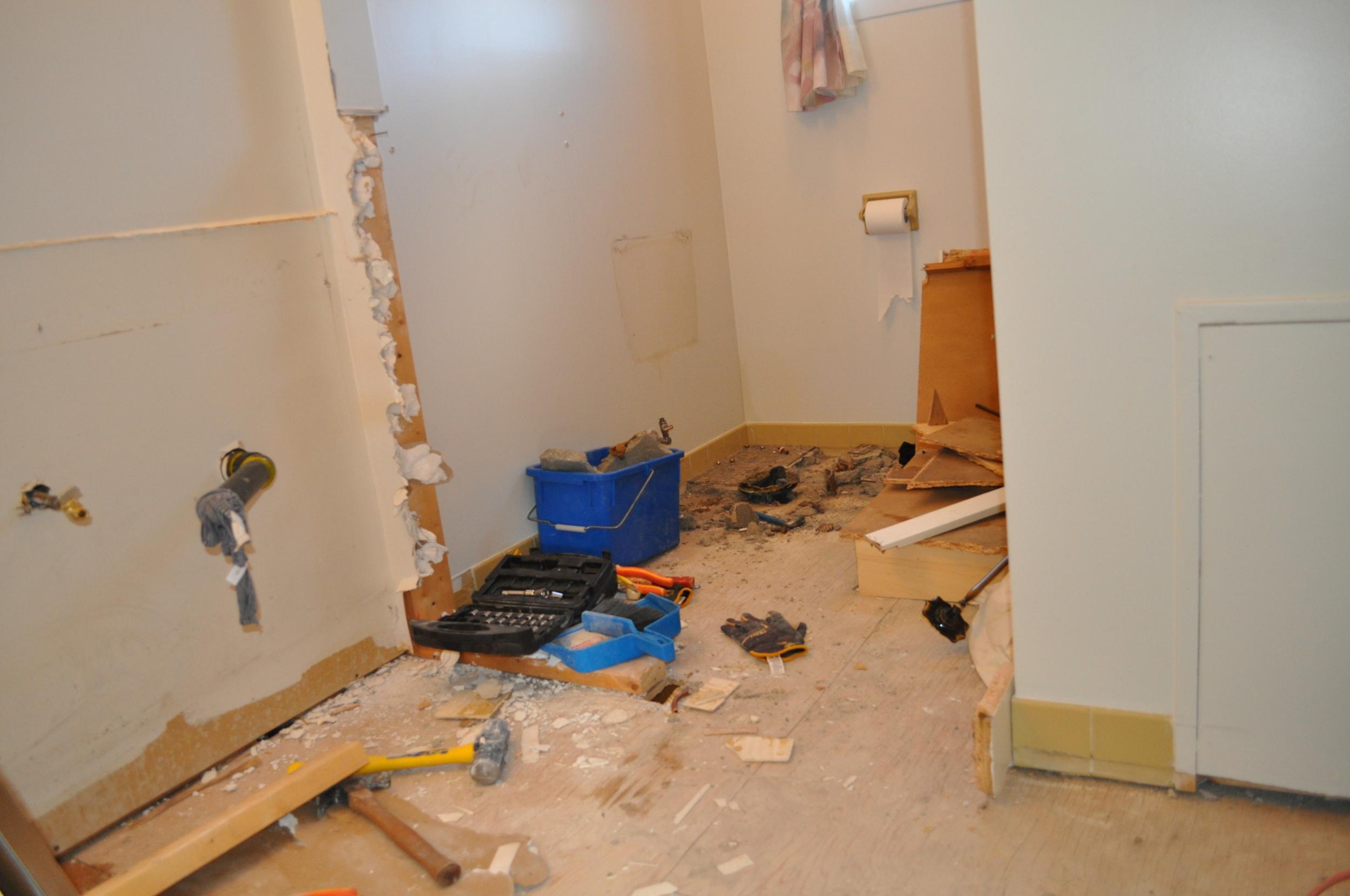 Main Bathroom, minus the vanity and toilet