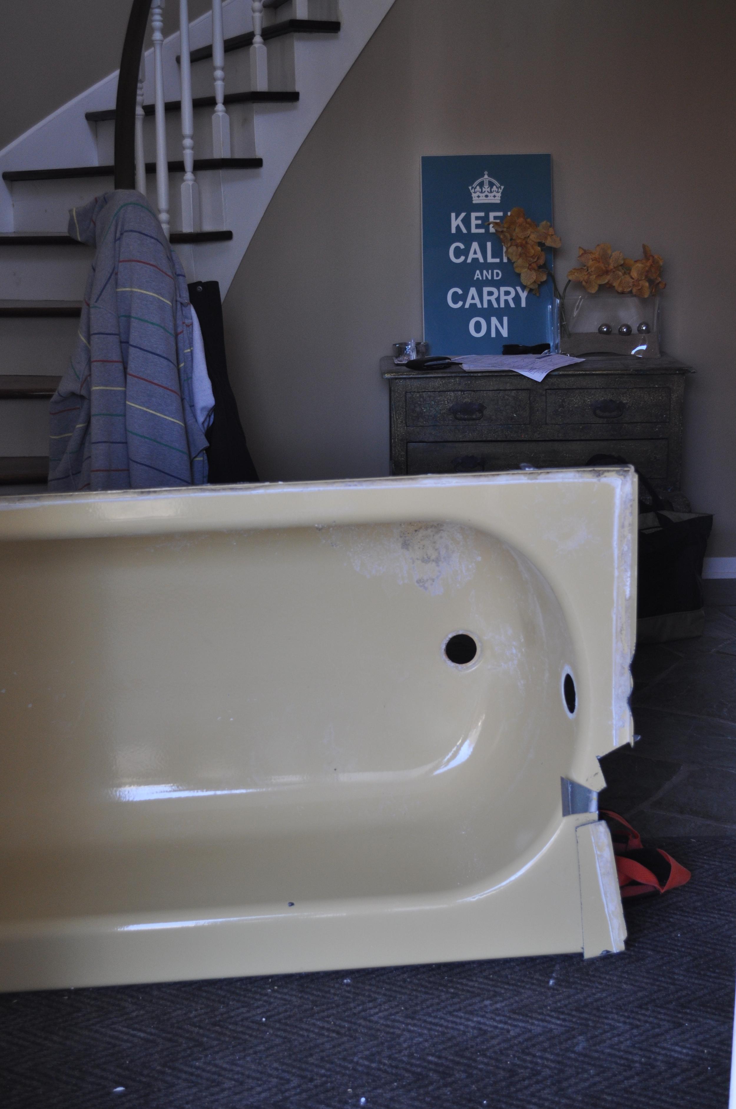 Goodbye, yellow tub