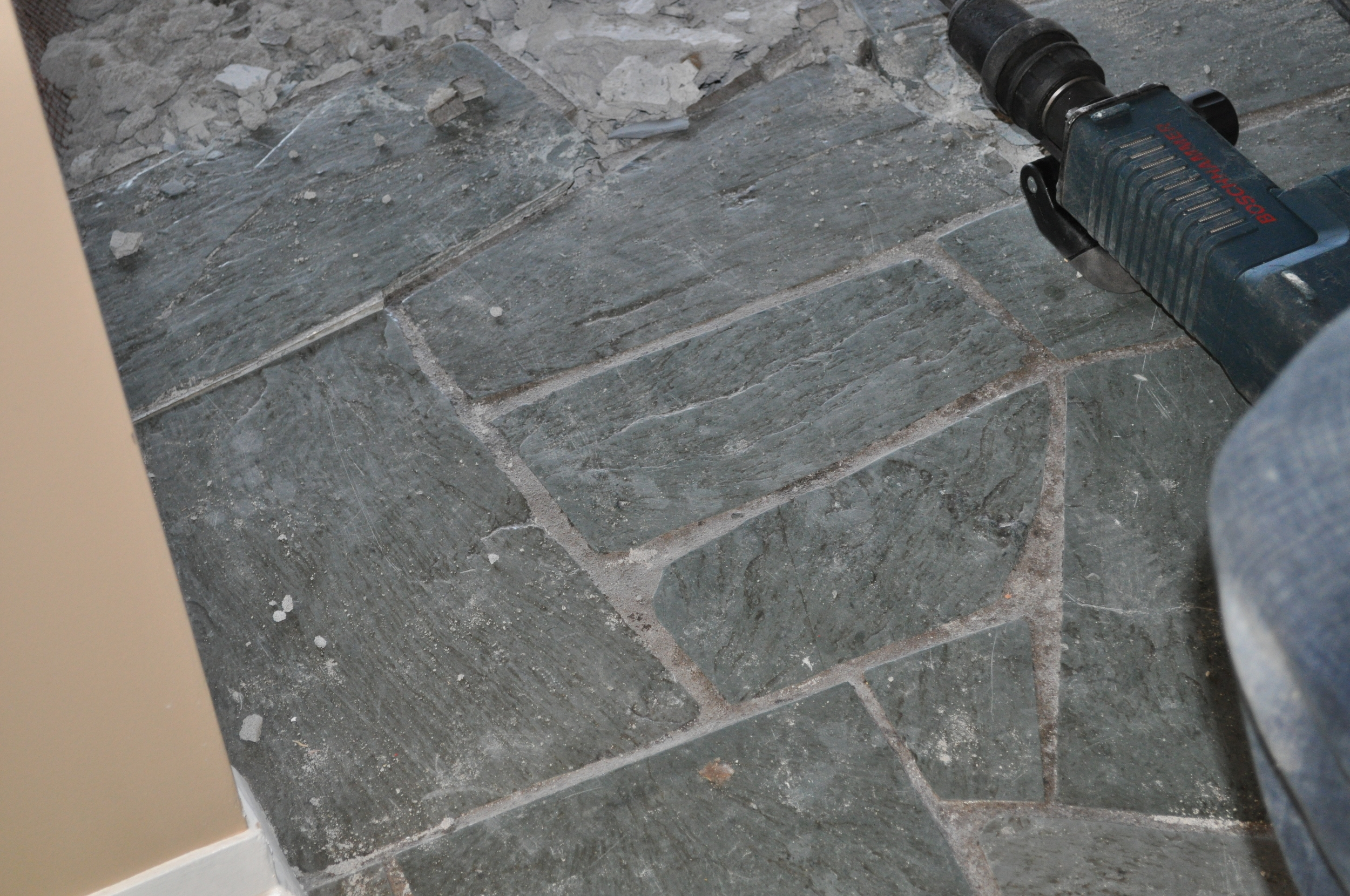 Entrance Slate Tile, about to perish