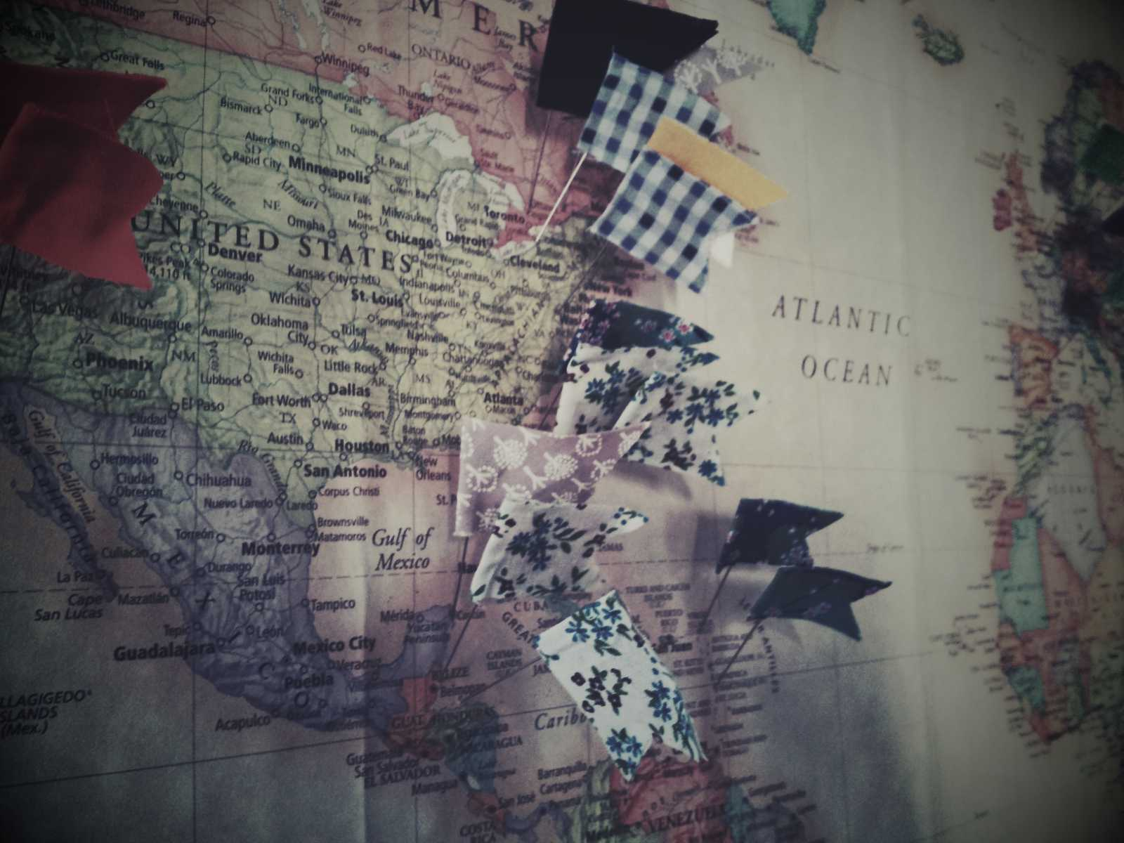World map, personalized with flags