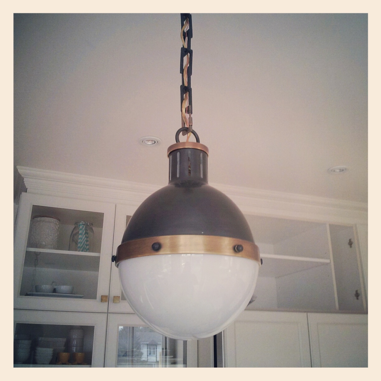 Hicks pendant, installed