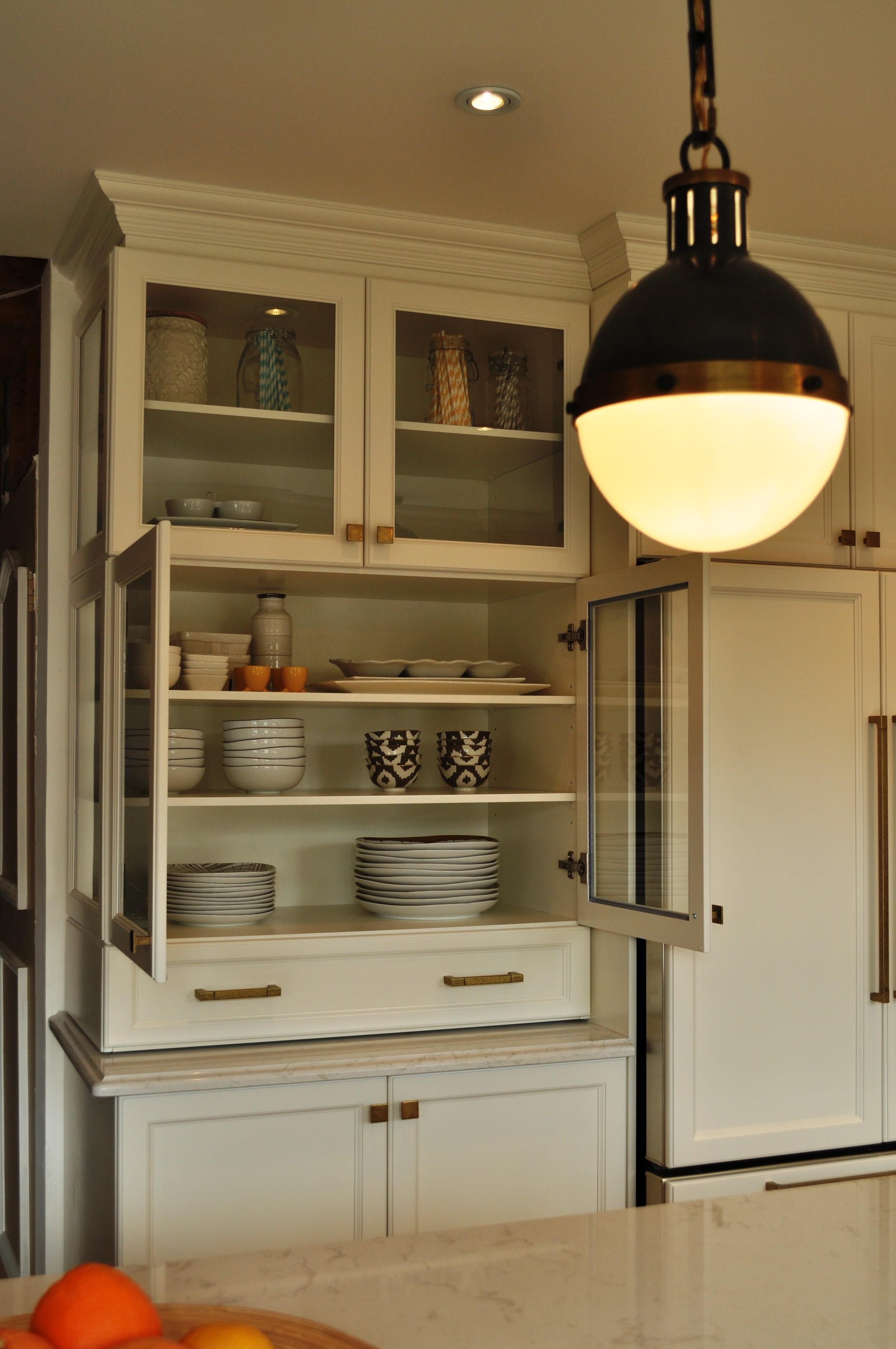 Velvet Toolbox Kitchen, glass cabinet opened 2