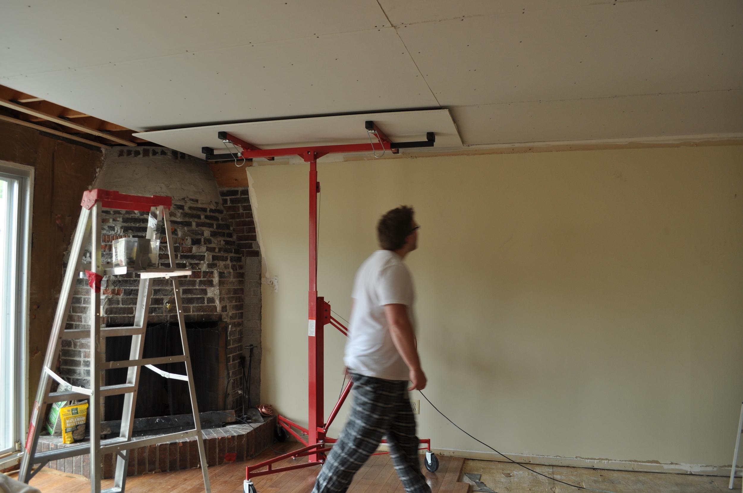 Family Room Gyprock install