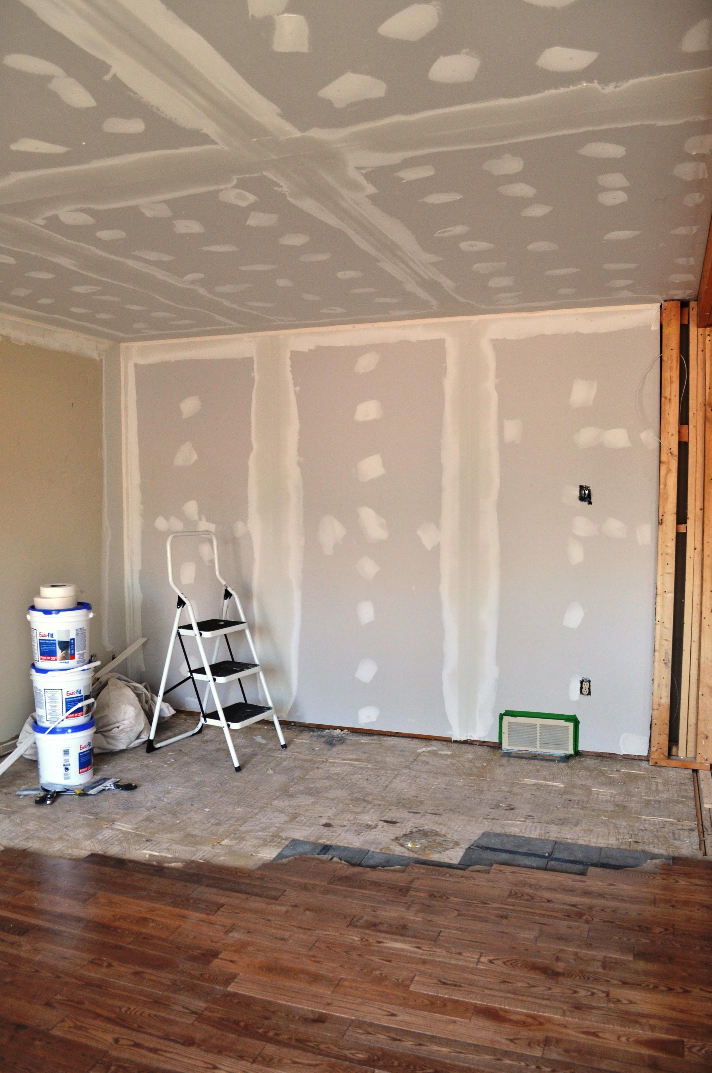 Family Room Plastering 2