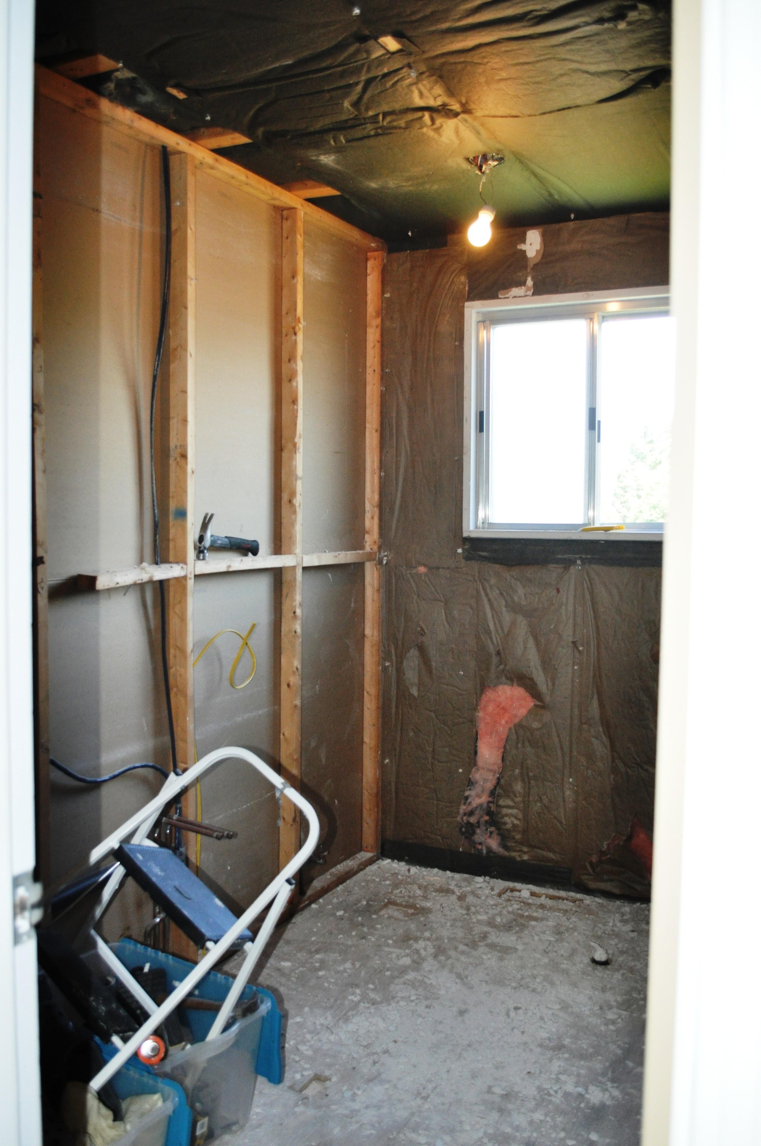 Guest Bathroom, demo complete