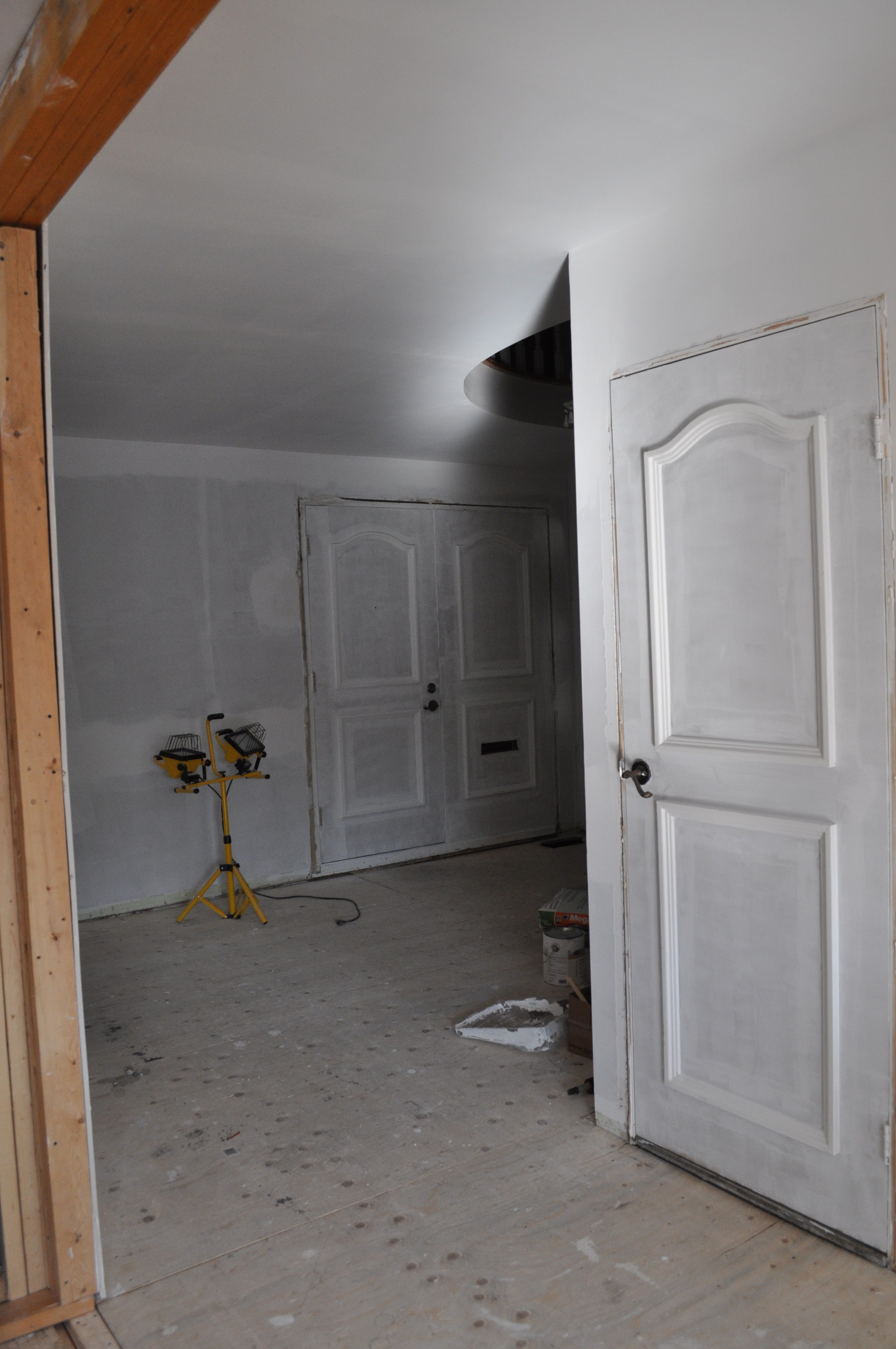 Front Entrance, Primed Walls 2