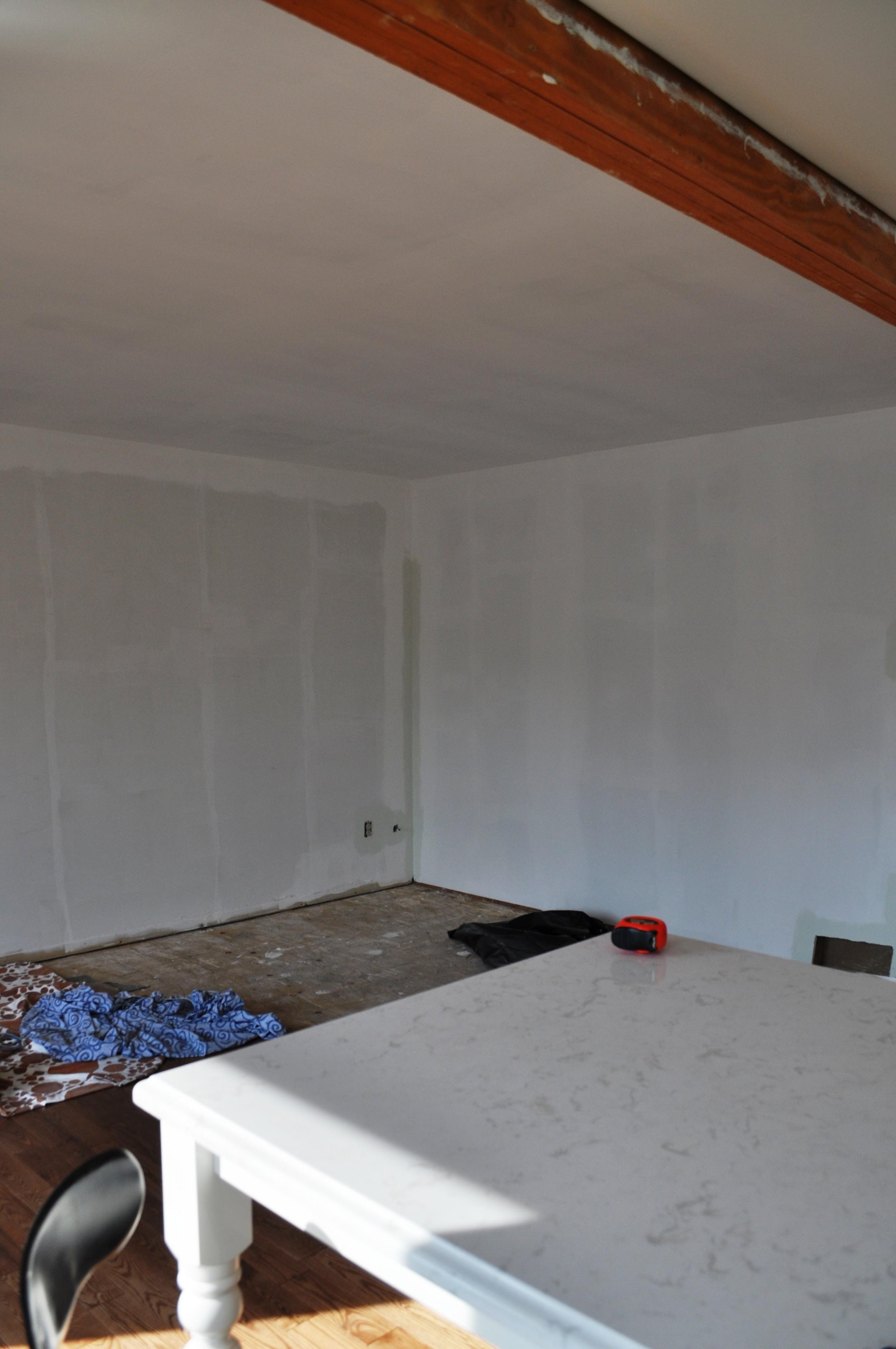 Family Room, Primed Walls