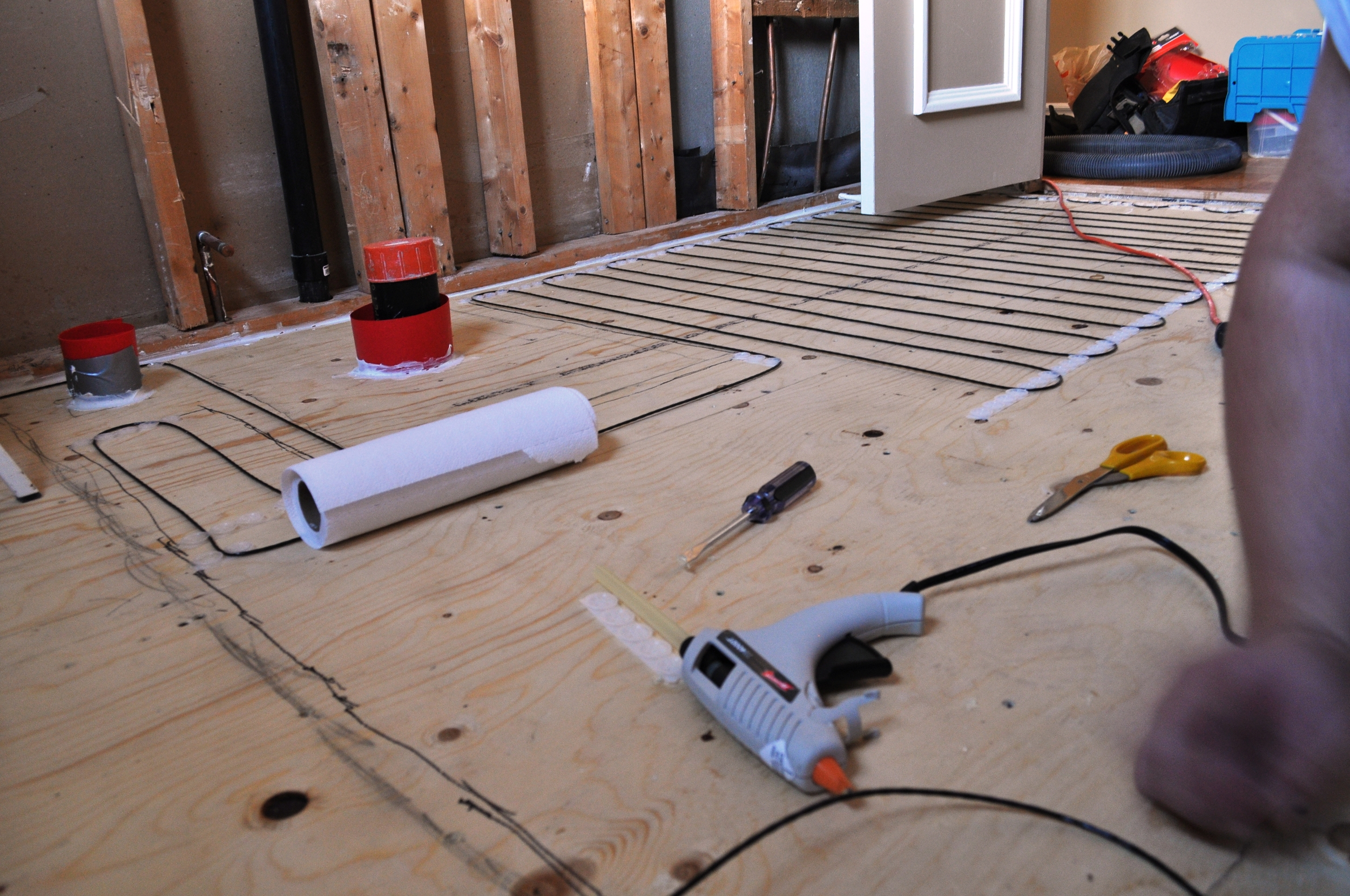 Bathroom Heated Floors, wiring 2