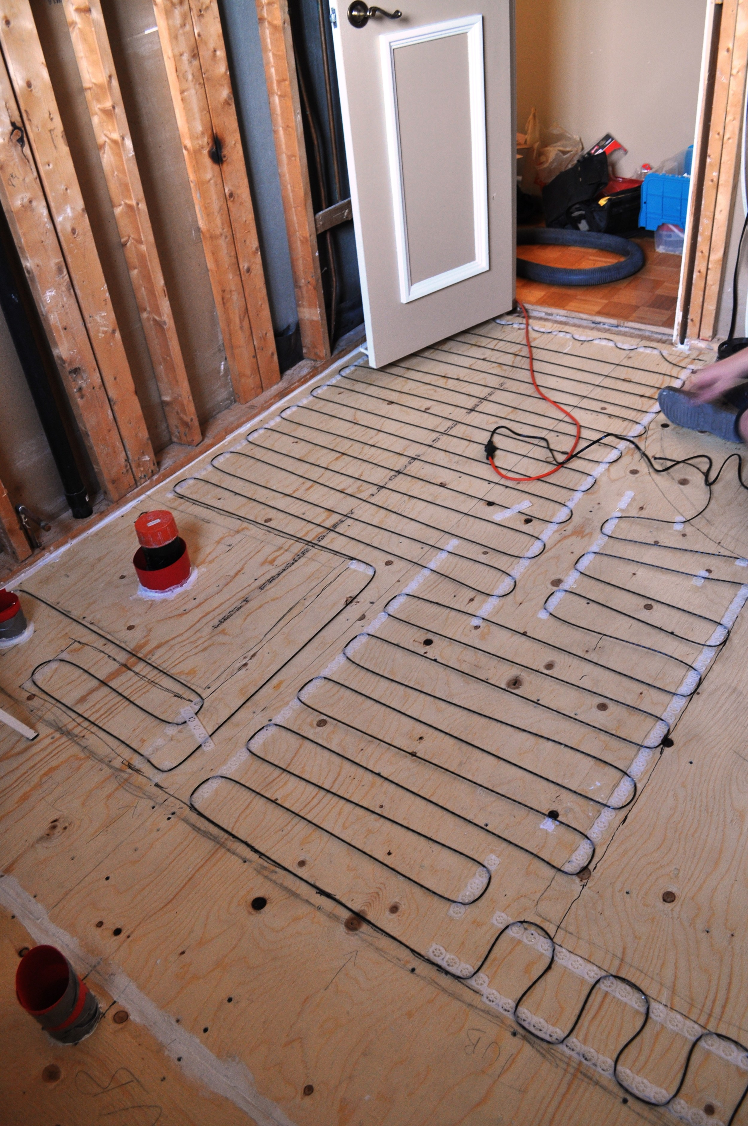 Bathroom Heated Floors, wiring 3