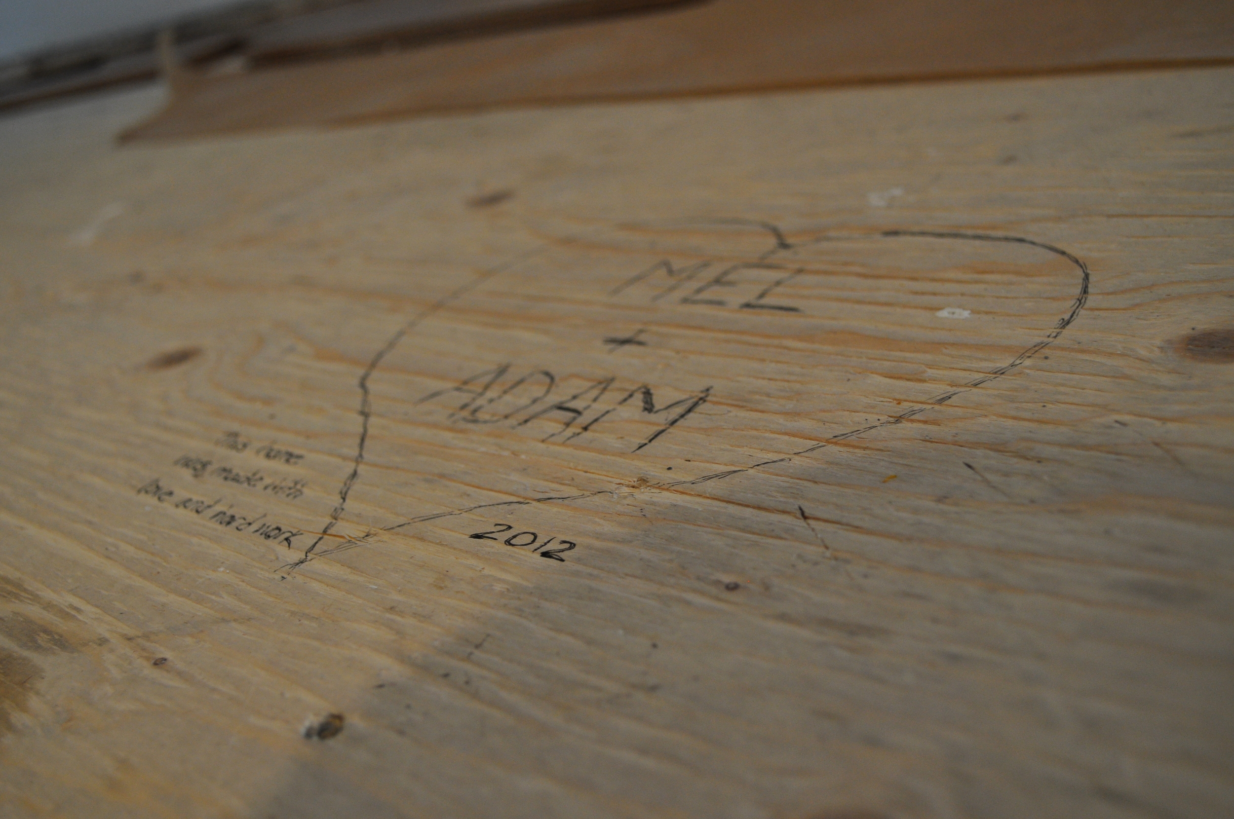Plywood Love Note
