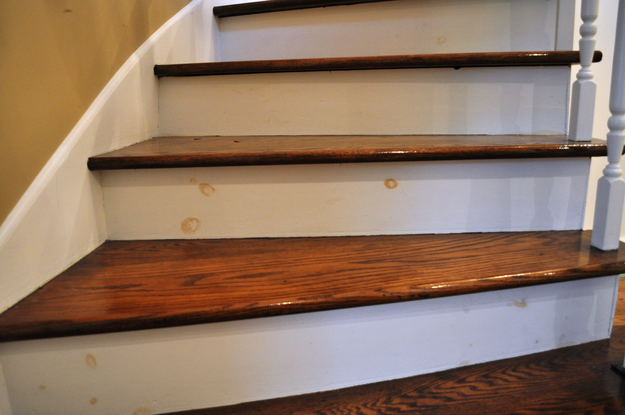 Staircase, in need of a fresh coat of paint