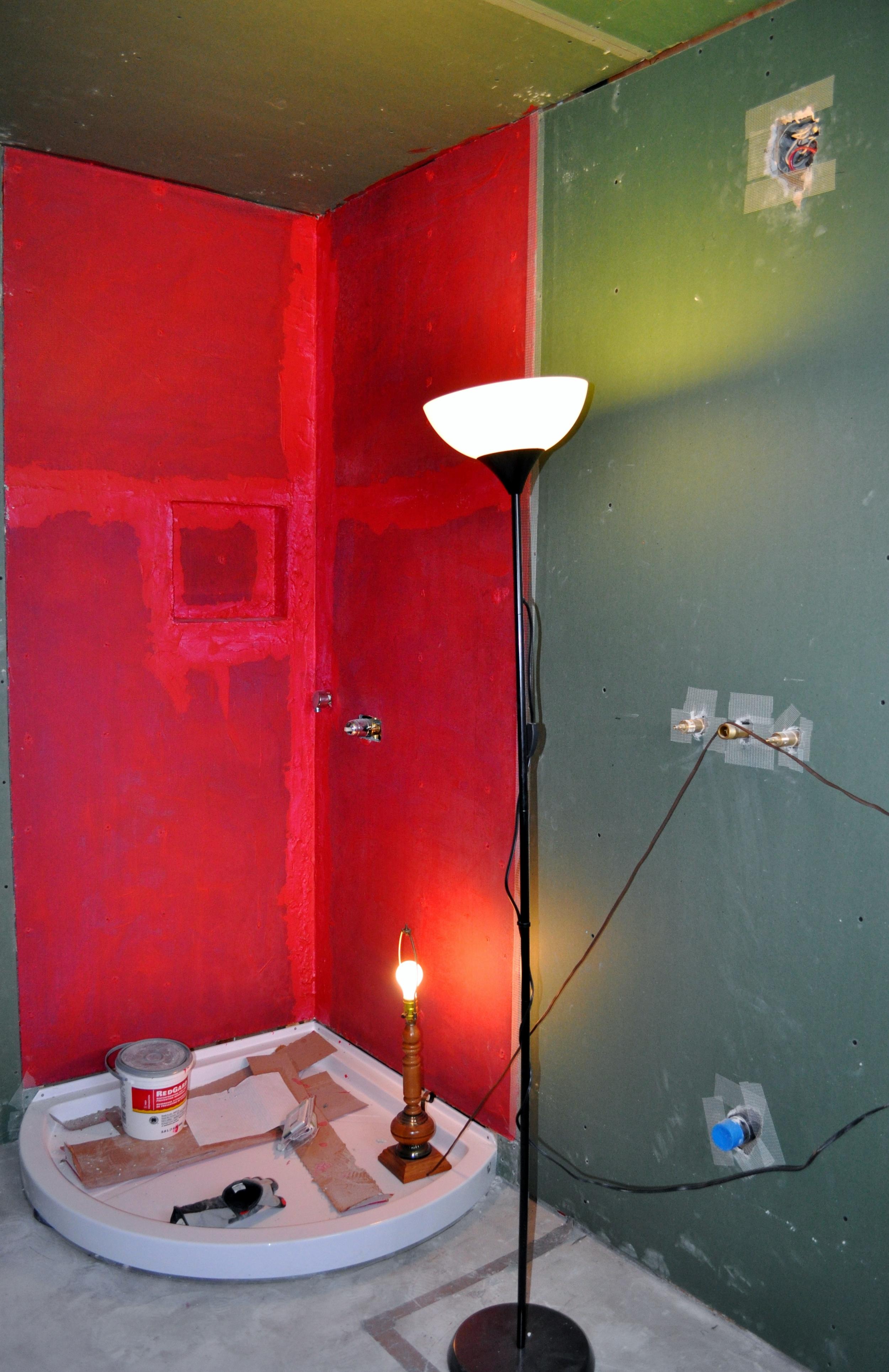 Bathroom - waterproofing the shower