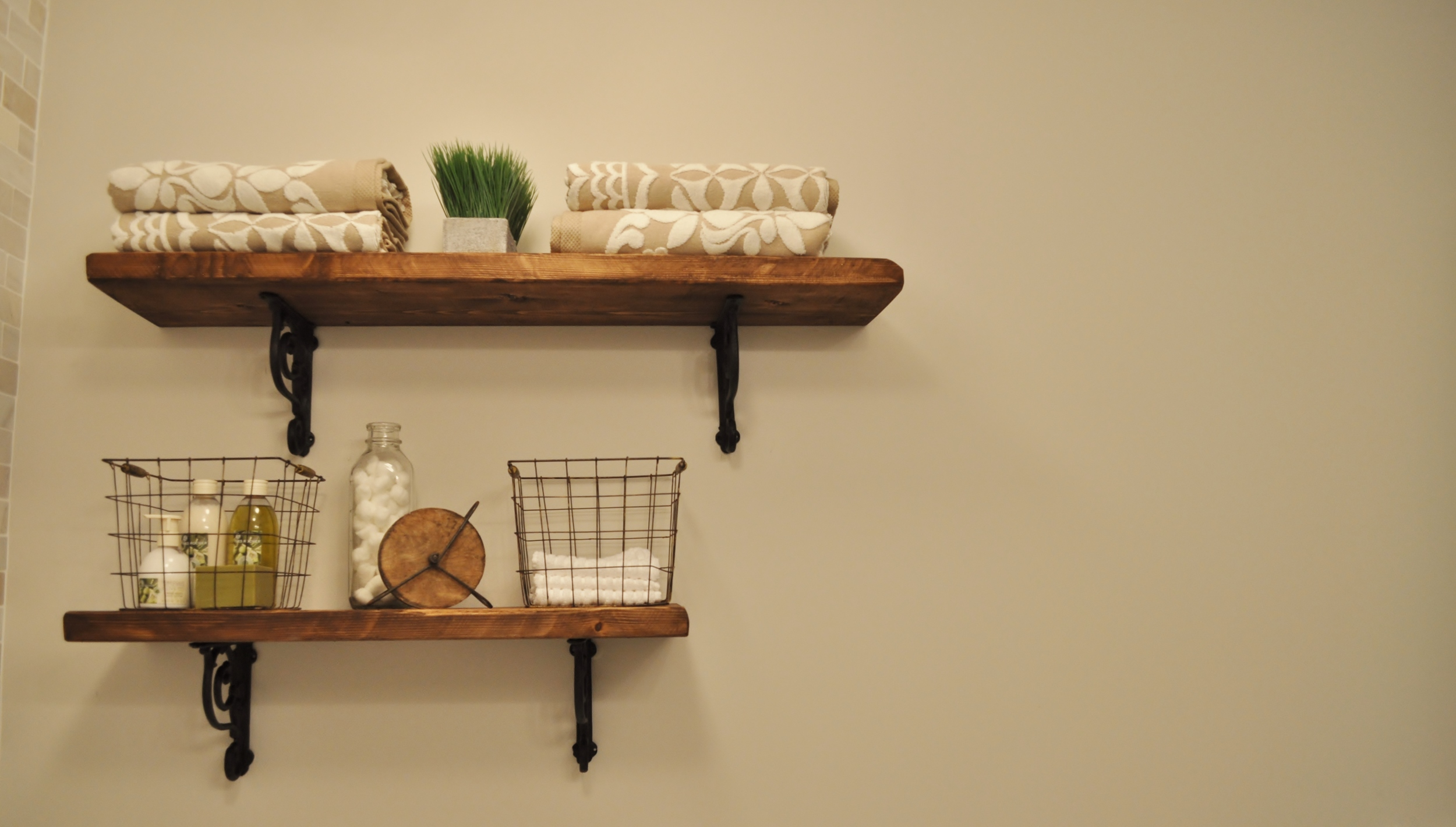 Guest Bathroom Shelves