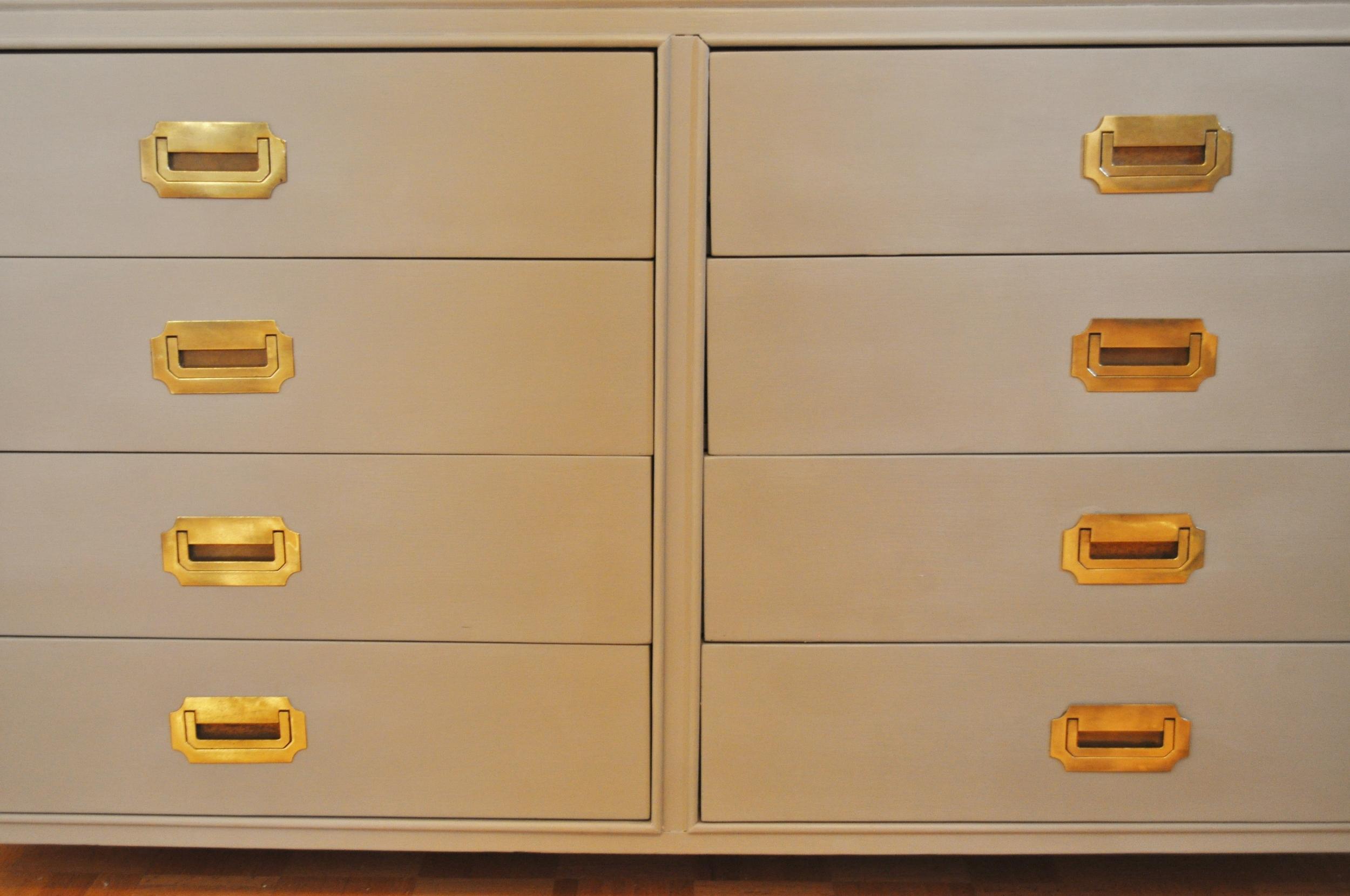 Dresser With Brass Handles