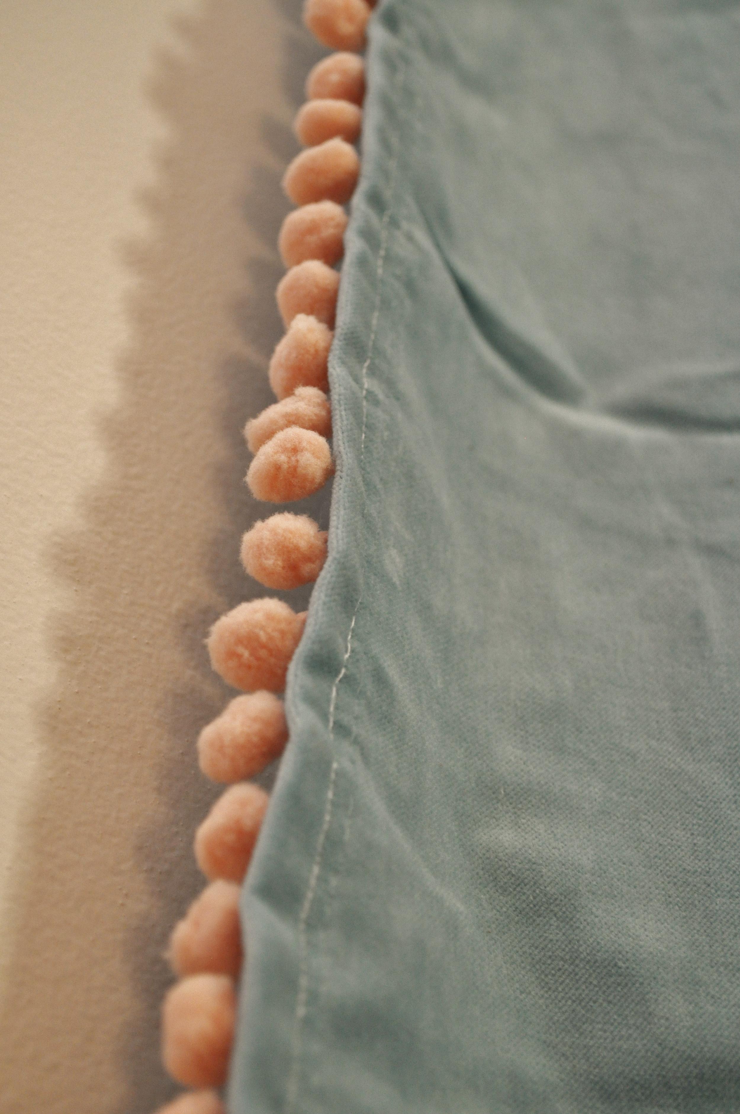 pompom trim sewed on